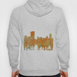 Boston, Massachusetts Skyline - Rust Hoody