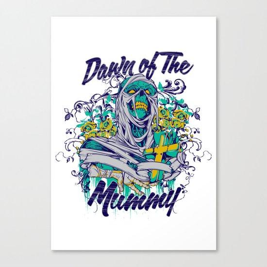 Dawn of the mummy Canvas Print