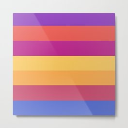Multi Color Palettes Modern   Metal Print