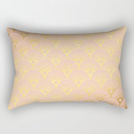 Gold and pink sparkling Mermaid pattern Rectangular Pillow