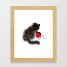 Mischievous cat Framed Art Print