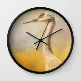Sandhill At Water's Edge Wall Clock