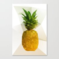 pineapple Canvas Prints featuring Pineapple by Three of the Possessed