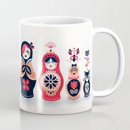 Russian Nesting Dolls – Hot Pink Coffee Mug