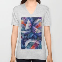 Flower Fantasy - Crocus 2 Unisex V-Neck