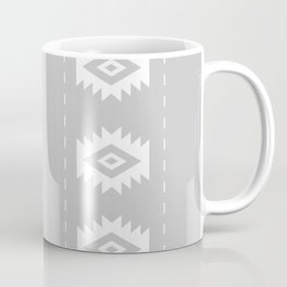 Grey and White Tribal Coffee Mug