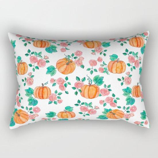 Pumpkins and Roses Rectangular Pillow