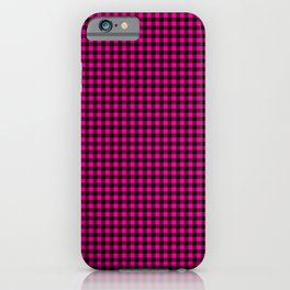 Mini Black and Hot Pink Cowgirl Buffalo Check iPhone Case