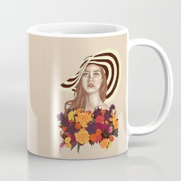 A flower between flowers // Del Rey with a bouquet Coffee Mug