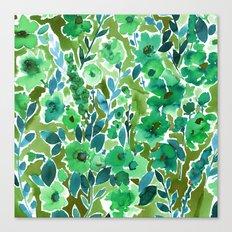 Isla Floral Green Canvas Print