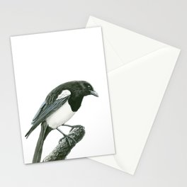 Magpie ink painting Stationery Cards