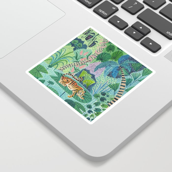 Jungle Tiger Sticker