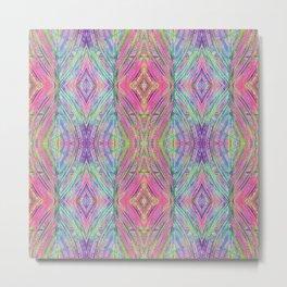 Abstract Garden Kaleidoscope Design 732 Metal Print