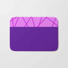 Pink Geometry Bath Mat