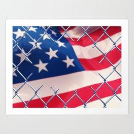 Illegal immigration concept Art Print
