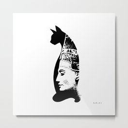 Cat Pharaon Metal Print