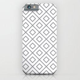 Grey Diamond Pattern 2 iPhone Case
