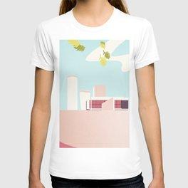 Le Corbusier illustration minimalist Facade Cité Radieuse pastel T-shirt