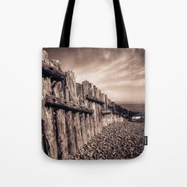 Groynes in Sepia Tote Bag