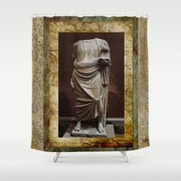 greece Shower Curtains featuring Greece  by Saundra Myles