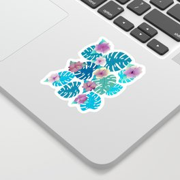 Cool Violet-Indigo Tropical Sticker