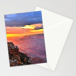 Let me lose myself Stationery Cards