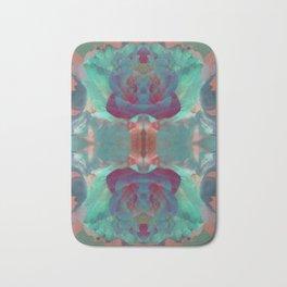 Deep in a Blue Flower Kaleidoscope Bath Mat