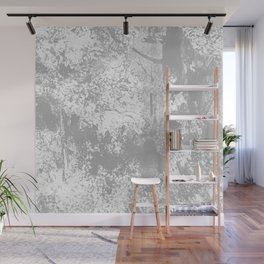 Abstract Forest Trees Watercolor Grey Wall Mural