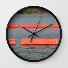 Lake Barriers Wall Clock
