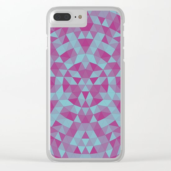 Triangle mandala 2 Clear iPhone Case