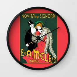 Mele Napoli Italian belle epoque ladies fashion Wall Clock