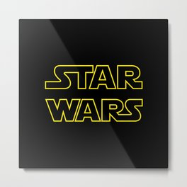 Star Logo Wars Metal Print