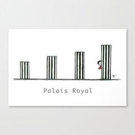 A Few Parisians: Palais Royal by David Cessac Canvas Print