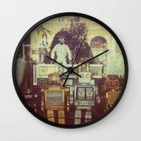 robots Wall Clocks featuring Robots by GF Fine Art Photography
