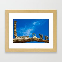 Love and blue sky Framed Art Print
