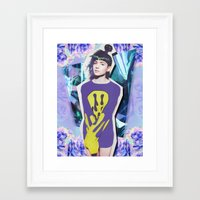 grimes Framed Art Prints featuring grimes by DAYTR1PPER