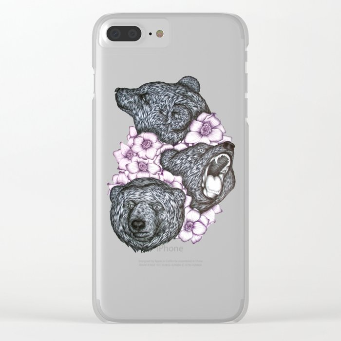 Blushing Bears in Bears Clear iPhone Case