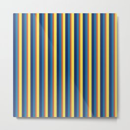 zakiaz blue yellow orange stripe Metal Print