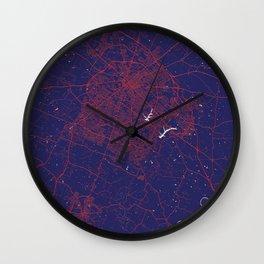 Lexington, KY, USA, Blue, White, City, Map Wall Clock