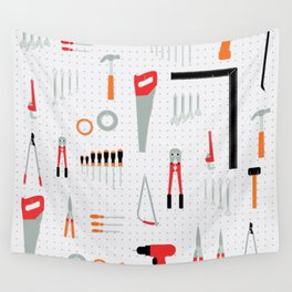 Tool Wall Wall Tapestry