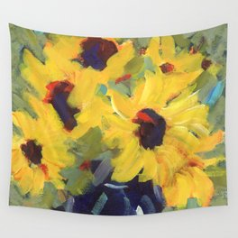 Sage and Sunflowers Wall Tapestry
