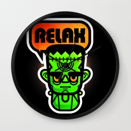 Frankie Says Relax Wall Clock