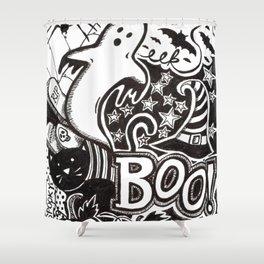 Boo! Happy Halloween! Shower Curtain