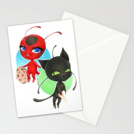 Miraculous Ladybug - Tikki and Plagg Stationery Cards