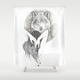 WolfMoon Shower Curtain