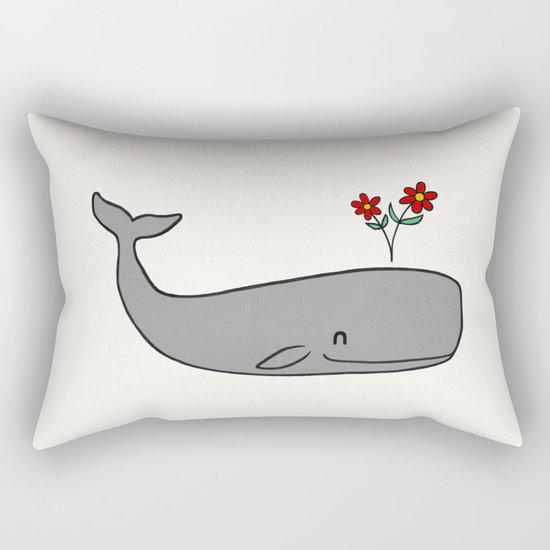 Peace Whale  Rectangular Pillow