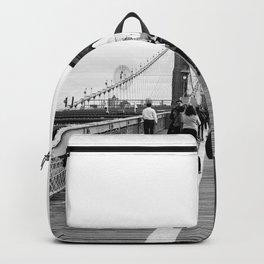 Walking the Brooklyn Bridge from Manhattan, New York Backpack