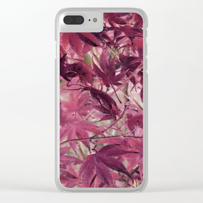 Red Fall Clear iPhone Case