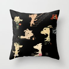 The seven little goats Throw Pillow