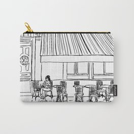 Parisian Café Carry-All Pouch